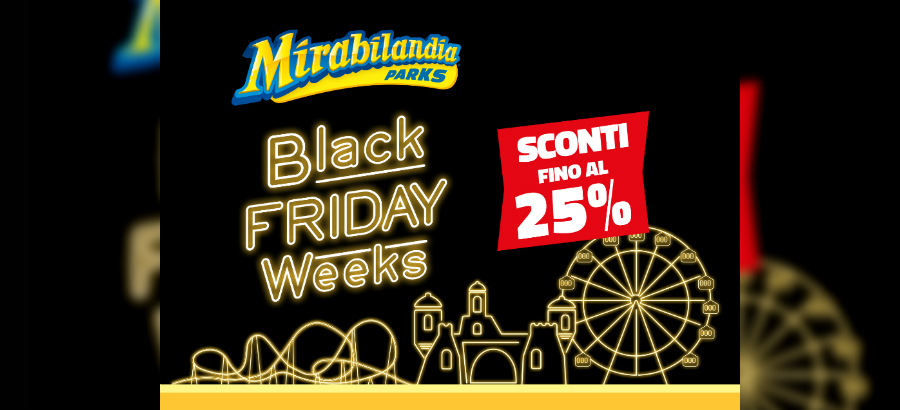 Black Friday Weeks 2019 di Mirabilandia